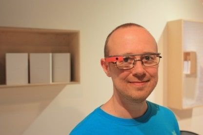 Photo of Sean wearing Google Glass